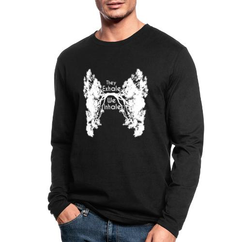 Inhale Exhale White - Men's Long Sleeve T-Shirt by Next Level