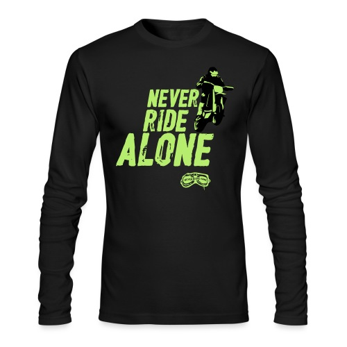 Never Ride Alone Black - Men's Long Sleeve T-Shirt by Next Level