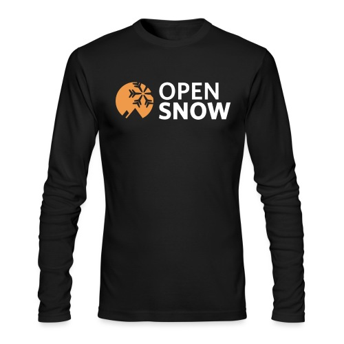 OpenSnow Logo Horizontal White - Men's Long Sleeve T-Shirt by Next Level