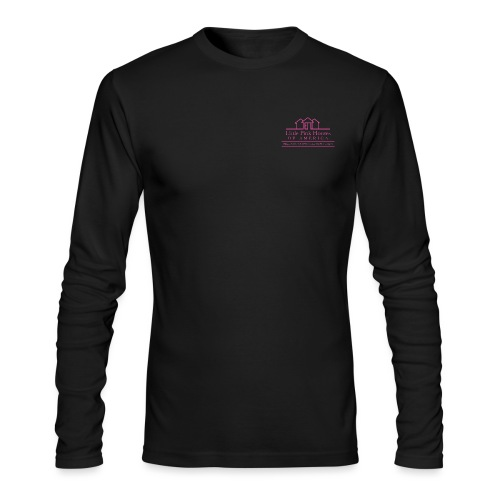little pink houses logo pink png - Men's Long Sleeve T-Shirt by Next Level
