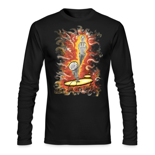 vive la résistance red - Men's Long Sleeve T-Shirt by Next Level