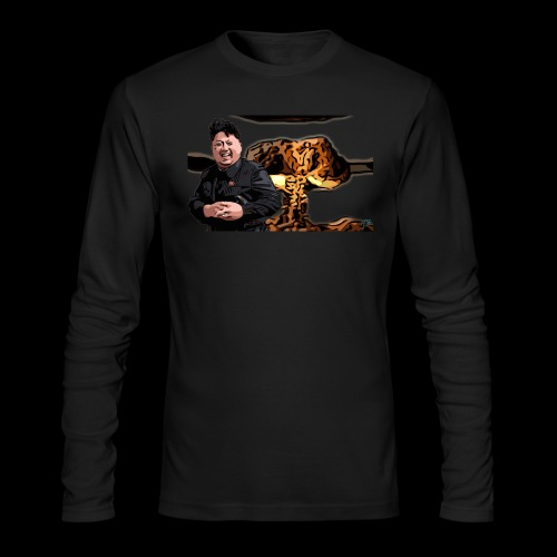 Crazy Kim exploded - Men's Long Sleeve T-Shirt by Next Level