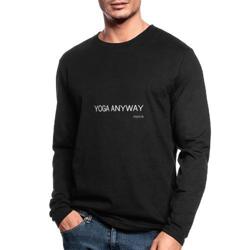 YOGA WHITE font - Men's Long Sleeve T-Shirt by Next Level