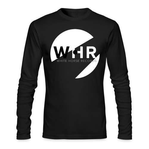 White Horse Records Logo - Black - Men's Long Sleeve T-Shirt by Next Level
