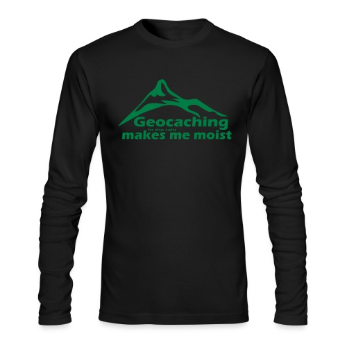Geocaching in the Rain - Men's Long Sleeve T-Shirt by Next Level