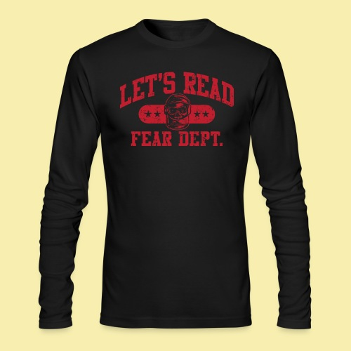 Fear Dept - Athletic Red - Inverted - Men's Long Sleeve T-Shirt by Next Level