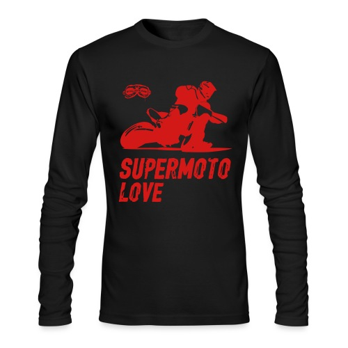 Supermoto Love - Men's Long Sleeve T-Shirt by Next Level