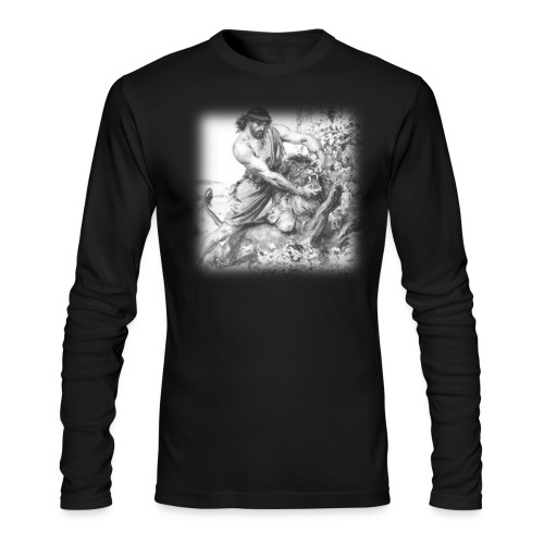 old school strong png - Men's Long Sleeve T-Shirt by Next Level