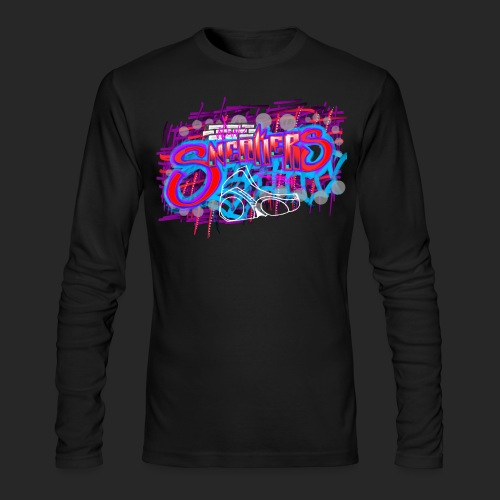 Sneakers Graffiti Design - Men's Long Sleeve T-Shirt by Next Level
