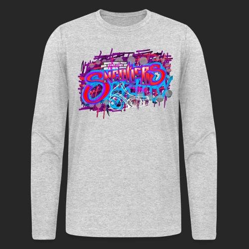 Sneakers Graffiti Design - Men's Long Sleeve T-Shirt by Next Level
