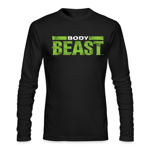 bodybeastblack png - Men's Long Sleeve T-Shirt by Next Level
