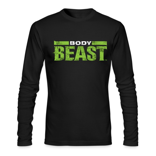 bodybeastblack png - Men's Long Sleeve T-Shirt by Next Level