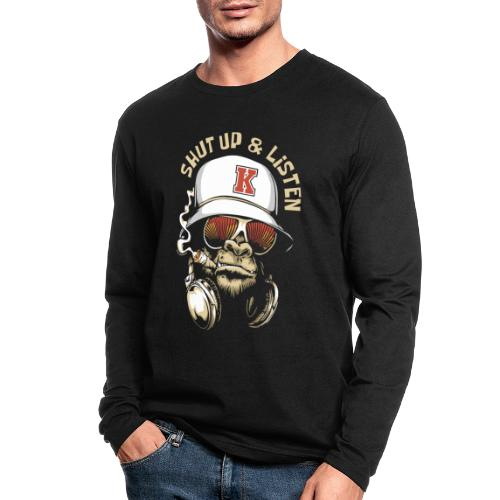 gorilla music - Men's Long Sleeve T-Shirt by Next Level