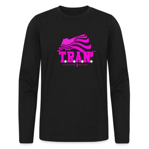 TRAN Ribbon Logo 4 - Men's Long Sleeve T-Shirt by Next Level
