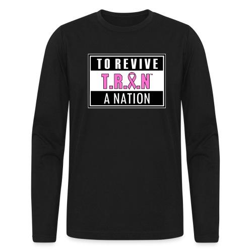 TRAN Ribbon Logo 2 - Men's Long Sleeve T-Shirt by Next Level
