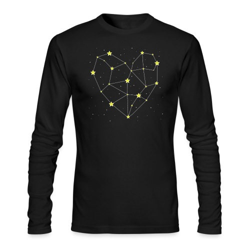 Heart in the Stars - Men's Long Sleeve T-Shirt by Next Level
