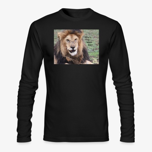 Who's The Main Man - Men's Long Sleeve T-Shirt by Next Level