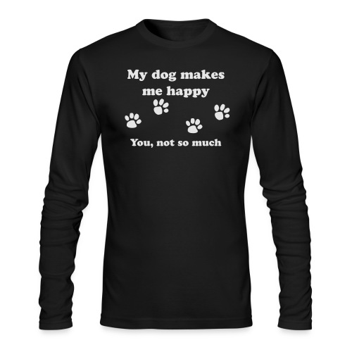 dog_happy - Men's Long Sleeve T-Shirt by Next Level