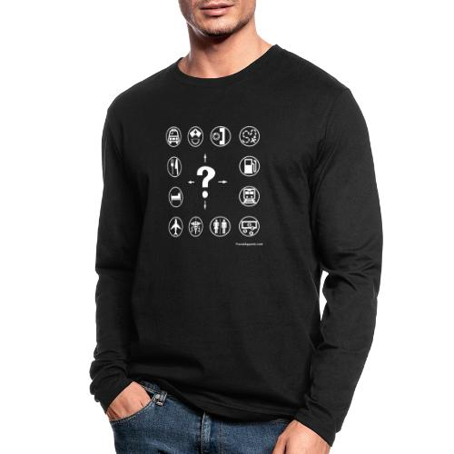 10x10-front-TRAVEL-black - Men's Long Sleeve T-Shirt by Next Level