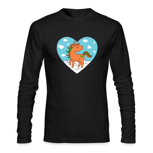 Unicorn Love - Men's Long Sleeve T-Shirt by Next Level