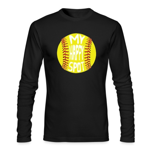 People s Republic of Burlington Softball - Men's Long Sleeve T-Shirt by Next Level