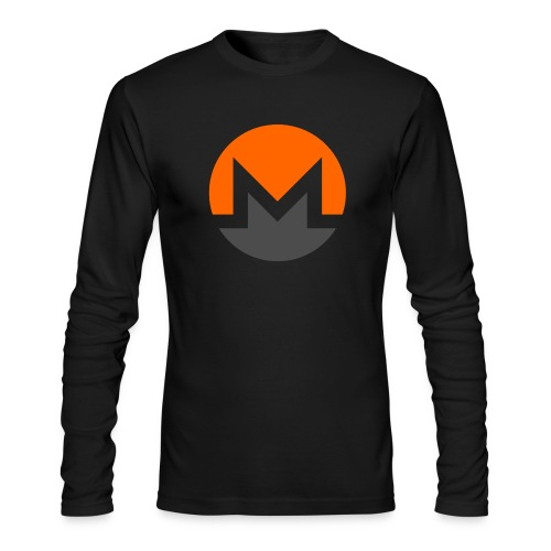 Monero crypto currency - Men's Long Sleeve T-Shirt by Next Level