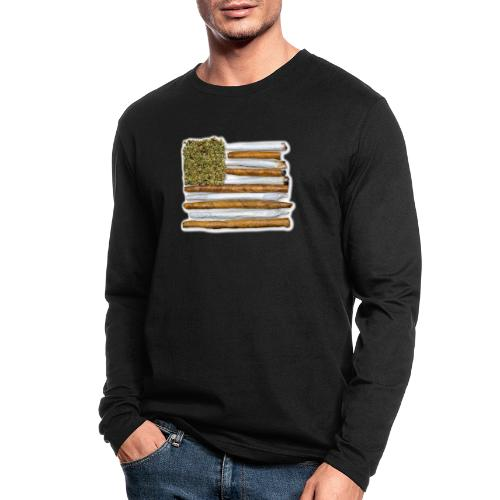 American Flag With Joint - Men's Long Sleeve T-Shirt by Next Level