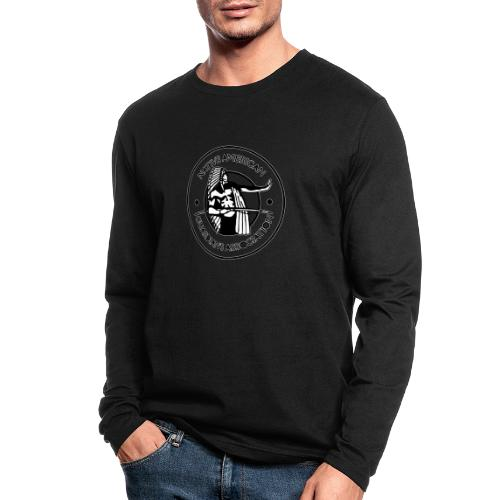 Naga LOGO Outlined - Men's Long Sleeve T-Shirt by Next Level
