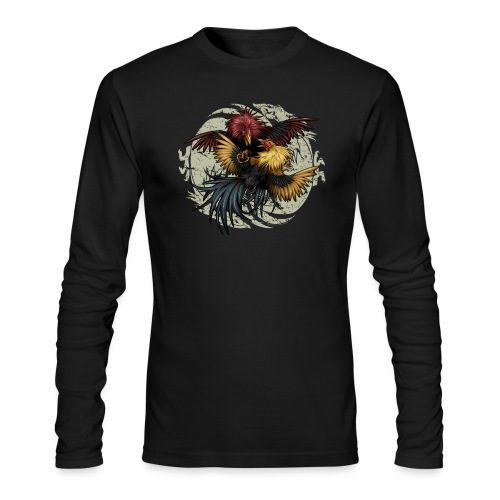 Ying Yang Gallos by Rollinlow - Men's Long Sleeve T-Shirt by Next Level