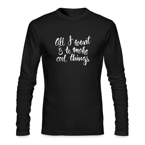 Cool Things White - Men's Long Sleeve T-Shirt by Next Level