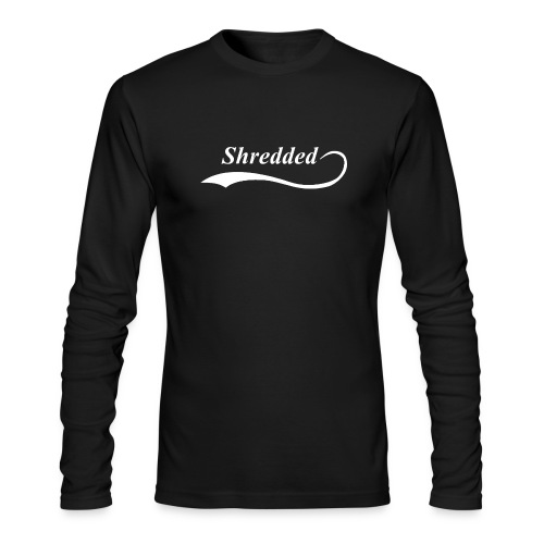 Mens Shredded Crewneck Sweatshirt - Men's Long Sleeve T-Shirt by Next Level