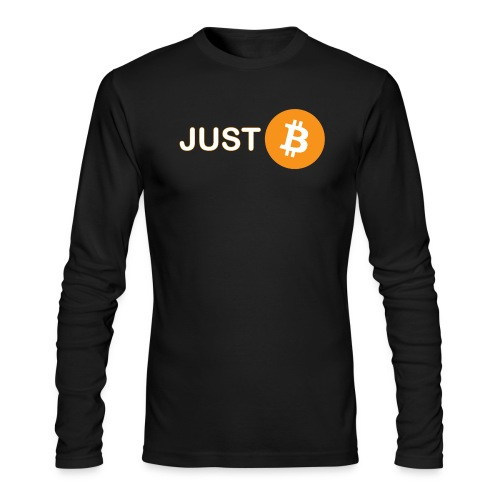 Just be - just Bitcoin - Men's Long Sleeve T-Shirt by Next Level
