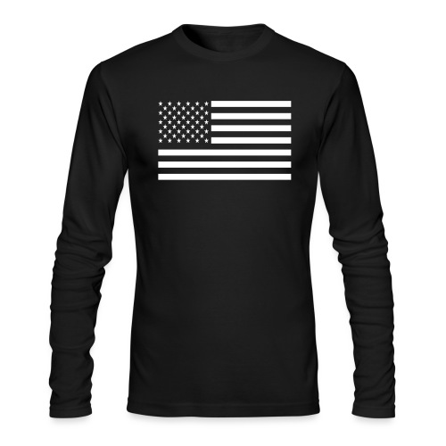 USA American Flag - Men's Long Sleeve T-Shirt by Next Level