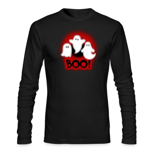 Ghosties Boo Happy Halloween 8 - Men's Long Sleeve T-Shirt by Next Level