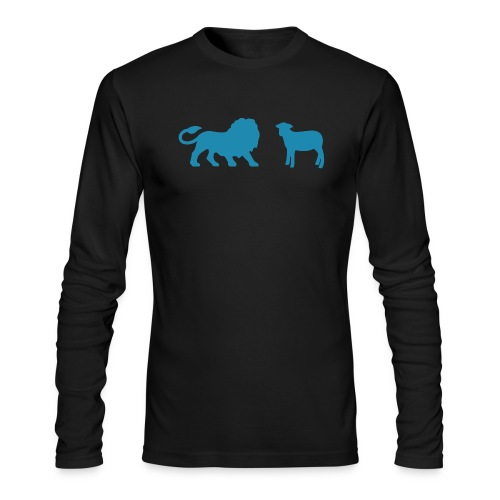 Lion and the Lamb - Men's Long Sleeve T-Shirt by Next Level