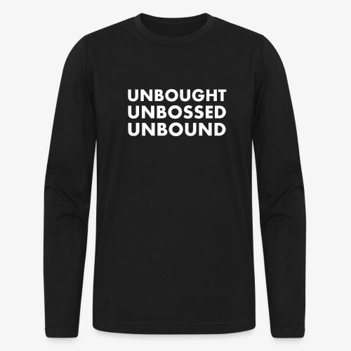 Unbought Unbought Unbound - Men's Long Sleeve T-Shirt by Next Level