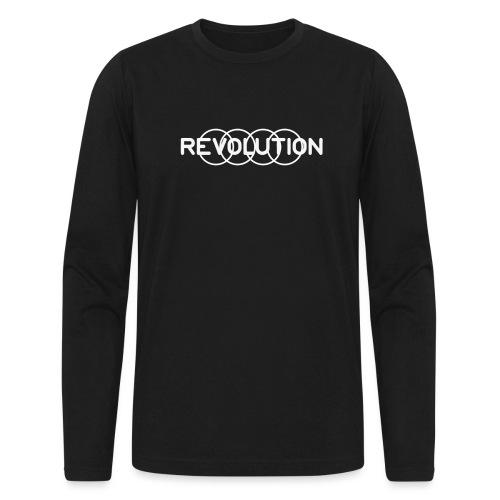 White Revolution Logo - Men's Long Sleeve T-Shirt by Next Level