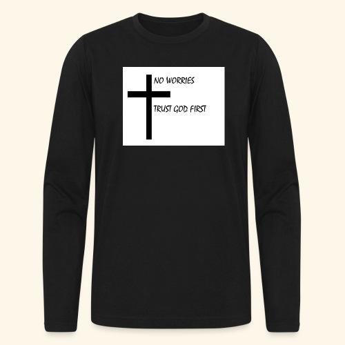 No Worries - Men's Long Sleeve T-Shirt by Next Level