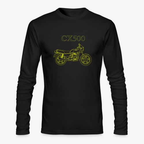 CX500 line drawing - Men's Long Sleeve T-Shirt by Next Level