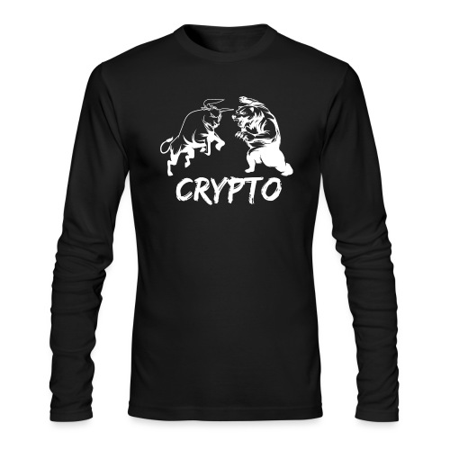 CryptoBattle White - Men's Long Sleeve T-Shirt by Next Level