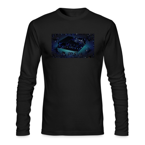 ps4 back grownd - Men's Long Sleeve T-Shirt by Next Level