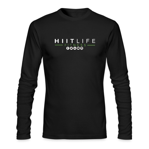 hlfsocialwht - Men's Long Sleeve T-Shirt by Next Level