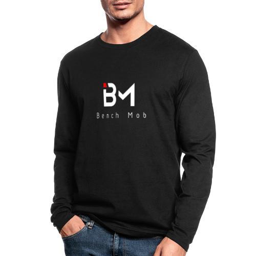 Bench Mob Logo (white) - Men's Long Sleeve T-Shirt by Next Level
