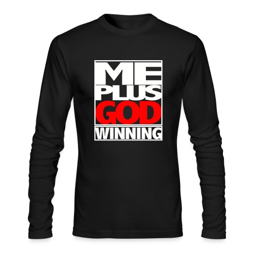 ME GOD WIN WHT - Men's Long Sleeve T-Shirt by Next Level
