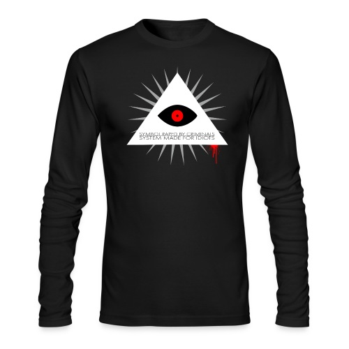 Symbol raped by criminals... System made for idiot - Men's Long Sleeve T-Shirt by Next Level