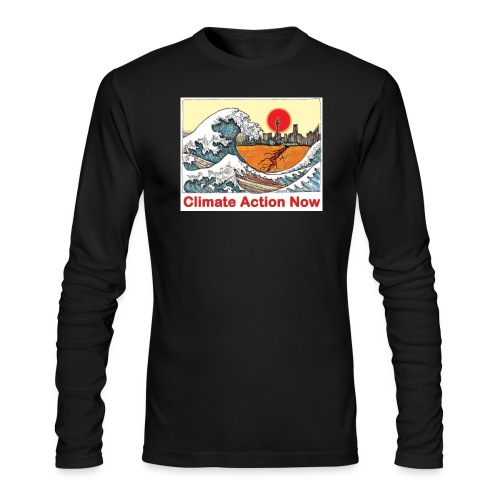 T shirt Wave - Men's Long Sleeve T-Shirt by Next Level