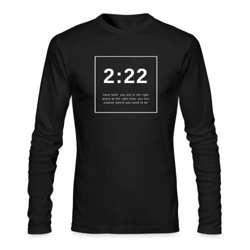 Angel Number 2:22 - Men's Long Sleeve T-Shirt by Next Level