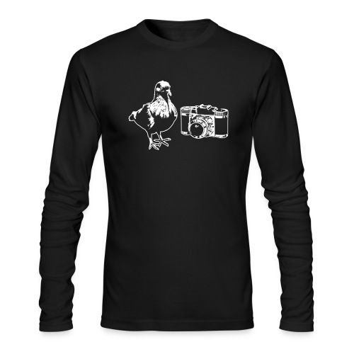 Pigeon Camera White - Men's Long Sleeve T-Shirt by Next Level