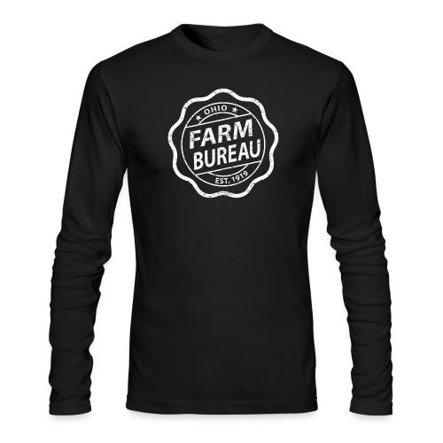 White Distressed Logo - Men's Long Sleeve T-Shirt by Next Level