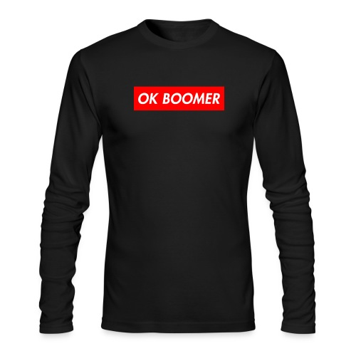 ok boomer merch - Men's Long Sleeve T-Shirt by Next Level